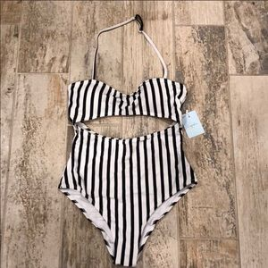 Cupshe one piece striped bathing suit